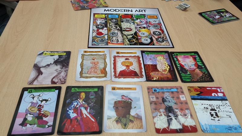 Карты из игры Современное искусство