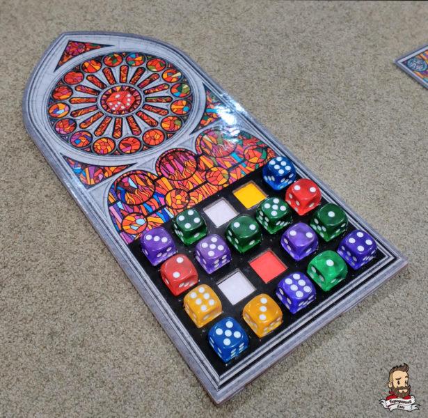 Планшет игрока ближе к концу партии