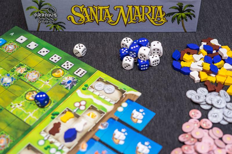 Компоненты игры Санта-Мария