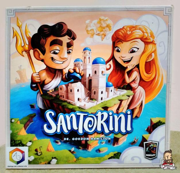 Коробка с игрой Санторини (Santorini)