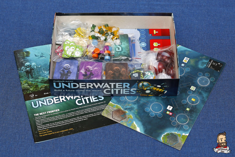 Компоненты игры Подводные города (Underwater Cities)