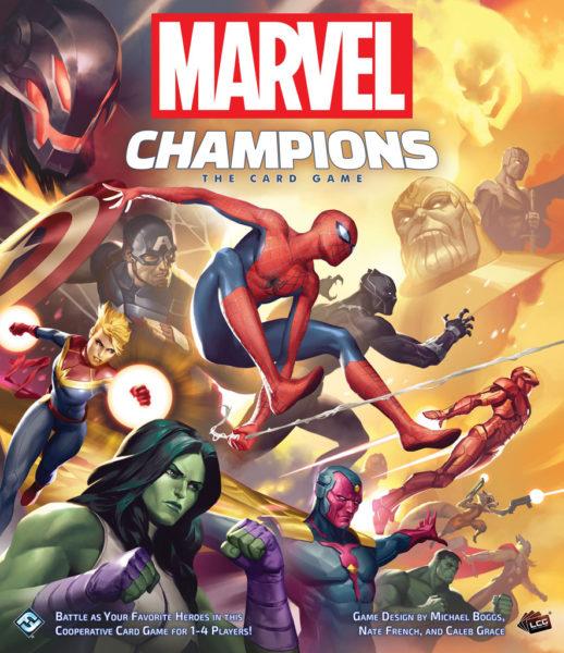Коробка с игрой Marvel Champions