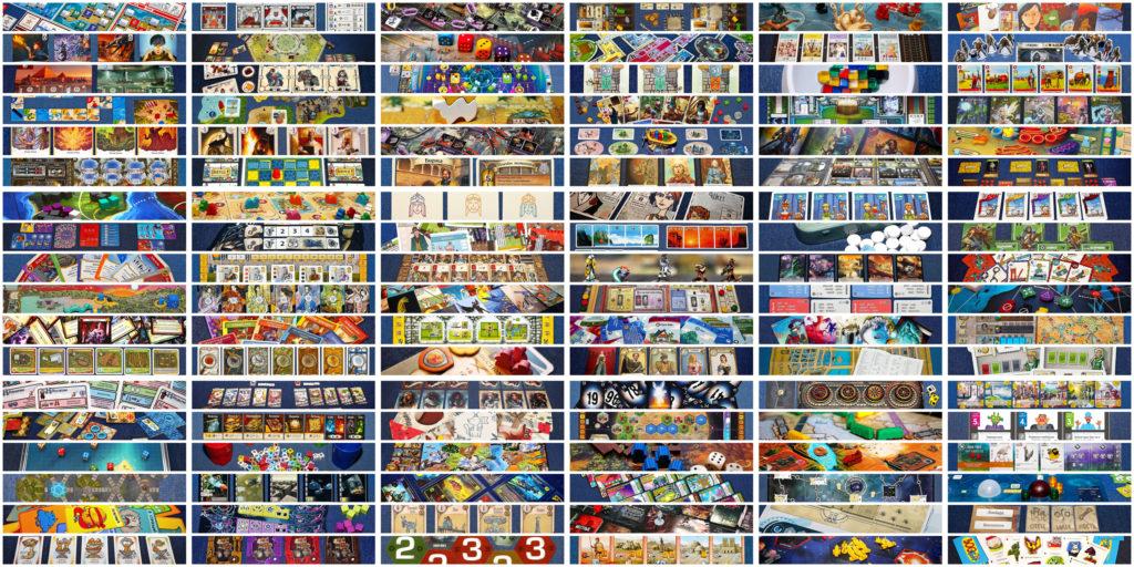 Коллаж из 108 игр к пятилетию Бородатого блога
