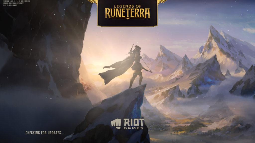 Загрузочный экран игры Legends of Runeterra