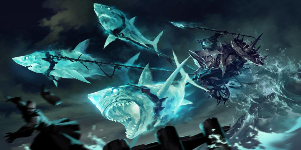 Колесница, запряженная акулами