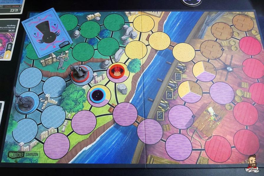 Игровое поле в Unmatched: Battle of Legends