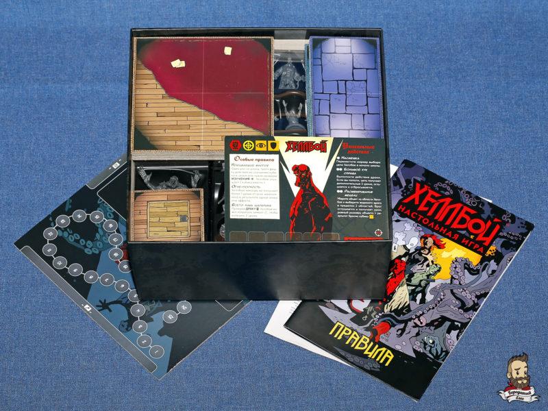 Компоненты игры Хеллбой (Hellboy: The Board Game)