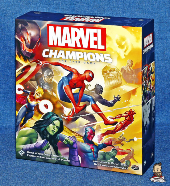 Коробка с игрой Marvel Champions: The Card Game