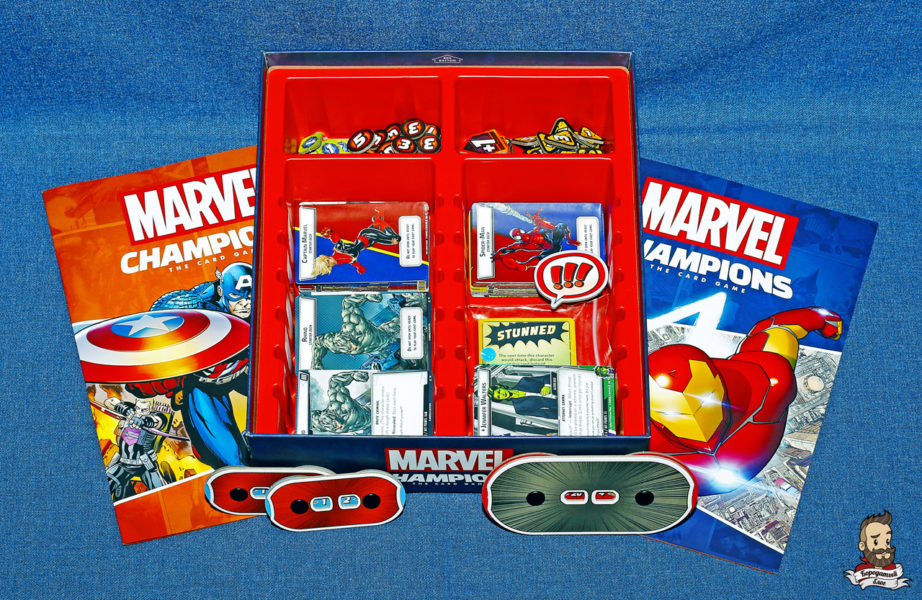 Компоненты игры Marvel Champions: The Card Game