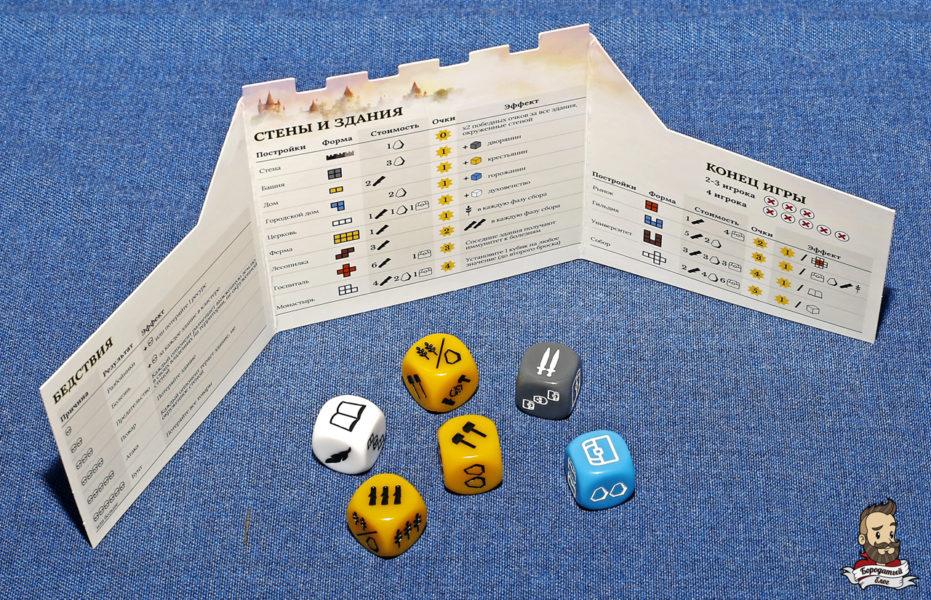 Ширма и кубики в игре Era: Средневековье