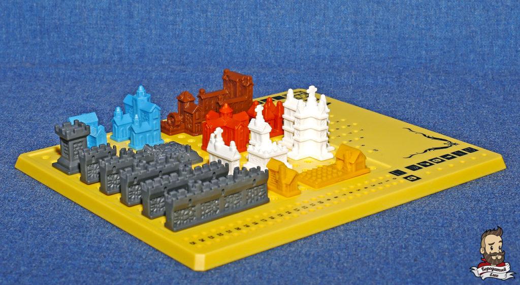 Все виды зданий в игре Era: Средневековье, вид сбоку
