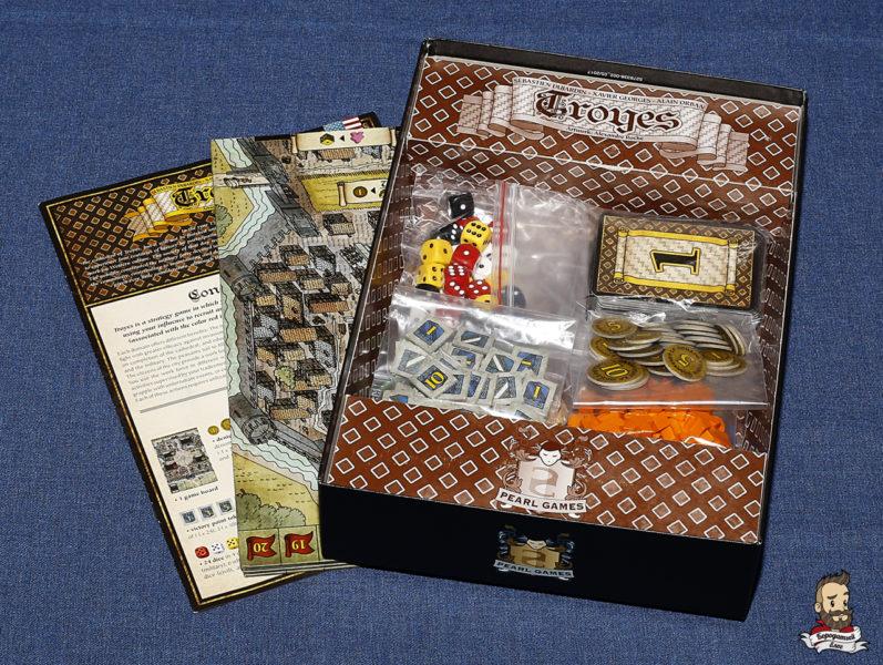 Компоненты игры Труа (Troyes)